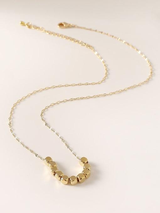 HYACINTH Brass  Smooth Locket Minimalist Necklace 3