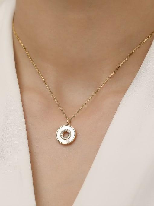 HYACINTH Brass Shell Geometric Minimalist Trend Korean Fashion Necklace 2