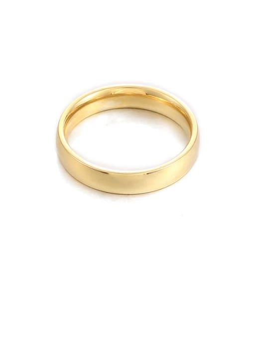 4mm Wide Titanium Steel Round Minimalist Band Ring