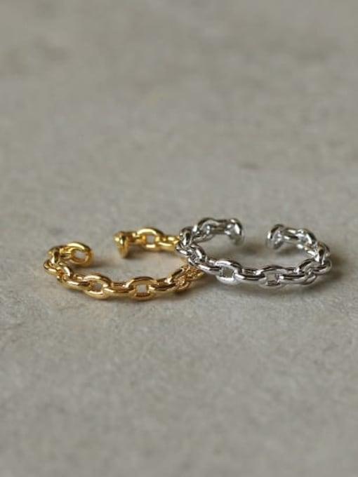 ACCA Brass Hollow Geometric Vintage Hoop Earring 4