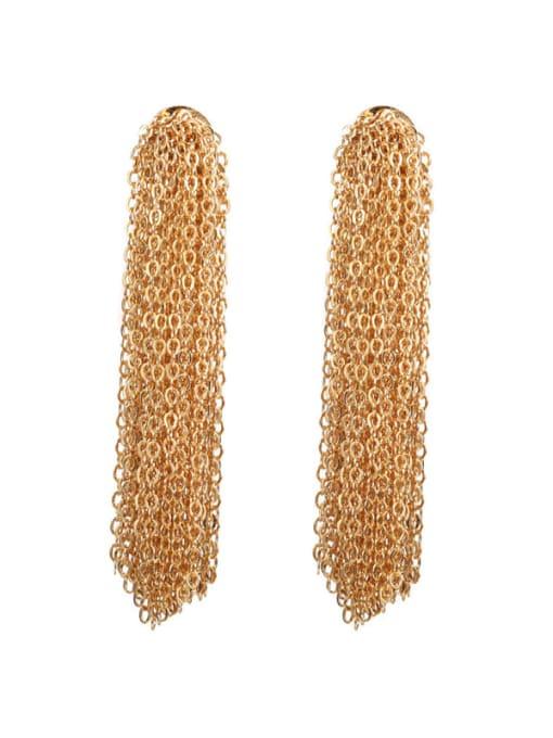 ACCA Brass Tassel Vintage Threader Earring(single) 0