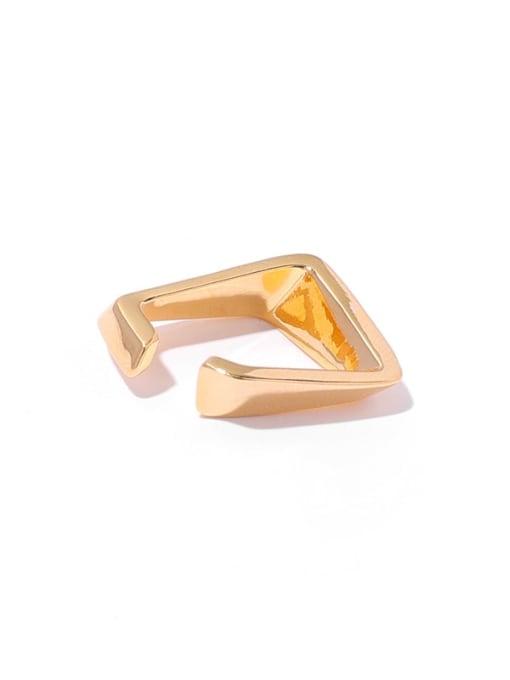 Gold (single ) Brass Geometric Minimalist Single Earring