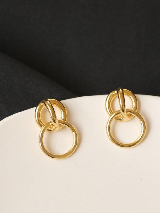 ACCA Brass Hollow geometry Vintage Drop Earring 1