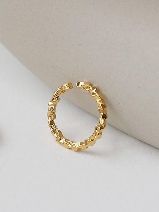 TINGS Brass Geometric Vintage Band Ring 2