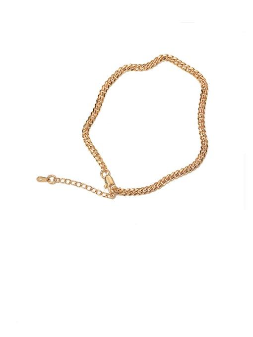Fine chain foot chain (diameter 3.5mm) Brass Irregular Vintage Anklet