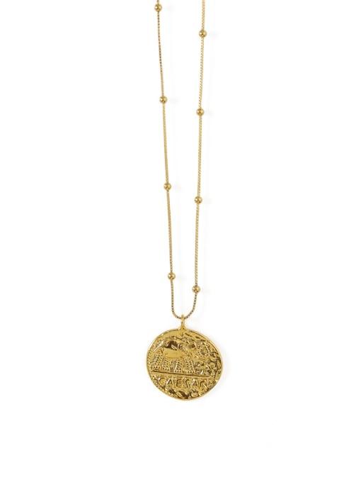 ACCA Brass  Vintage Elephant totem retro Medallion pendant Necklace 3
