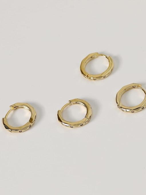 HYACINTH Brass Geometric Vintage Huggie Earring 4