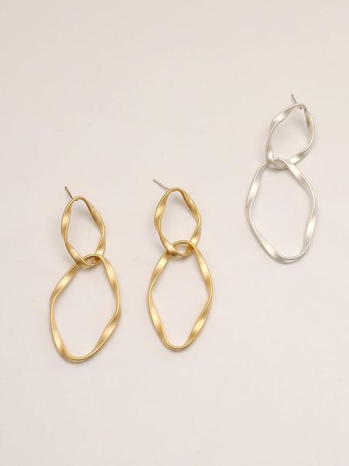 HYACINTH Brass Geometric Minimalist Drop Earring 1