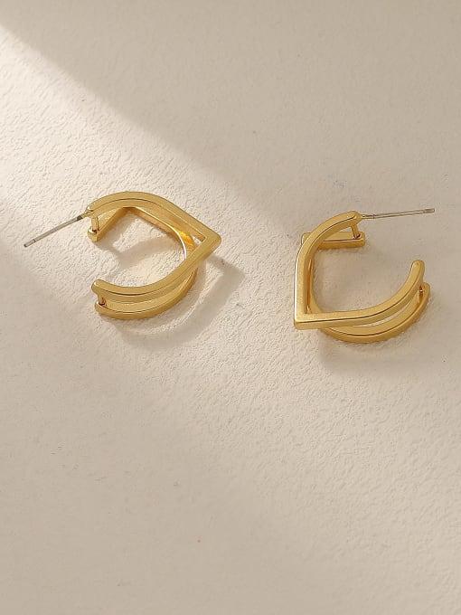 HYACINTH Brass Geometric Minimalist Stud Trend Korean Fashion Earring 3