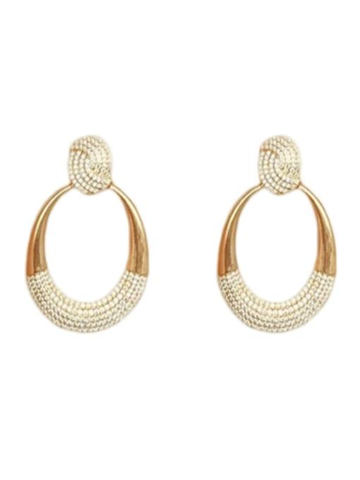 gold Brass Cubic Zirconia Water Drop Minimalist Drop Earring