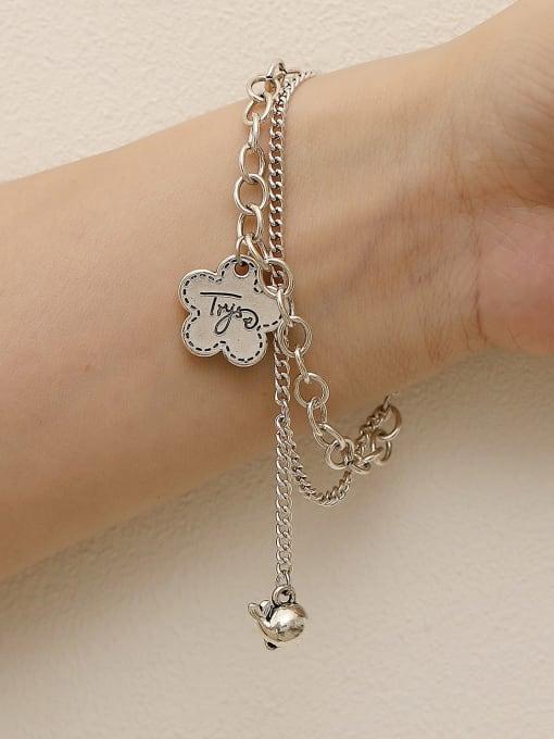 HYACINTH Brass Hollow  Geometric Chain Vintage Strand Bracelet 1