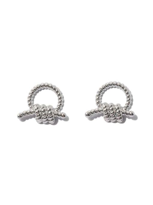 TINGS Brass Knot Geometric Vintage Stud Earring 0