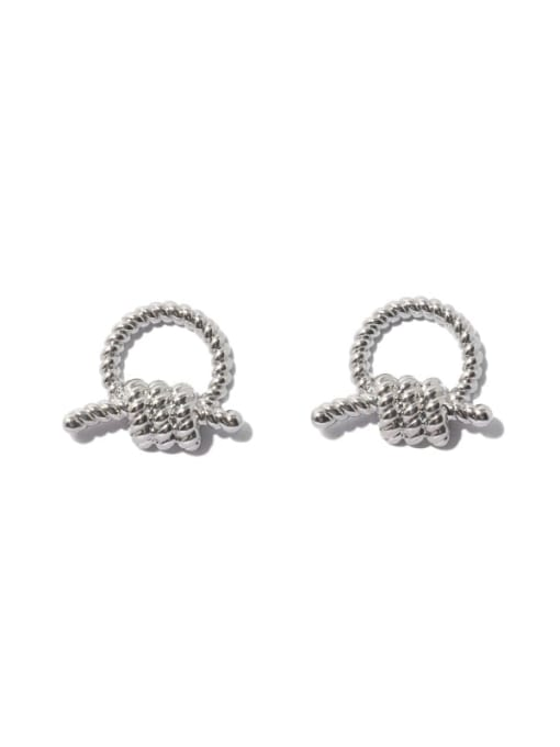 TINGS Brass Knot Geometric Vintage Stud Earring