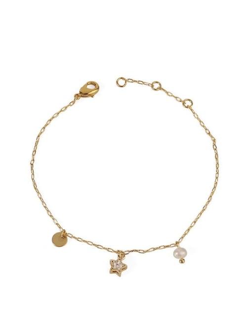 Five Color Brass Cubic Zirconia Star Minimalist Link Bracelet 3