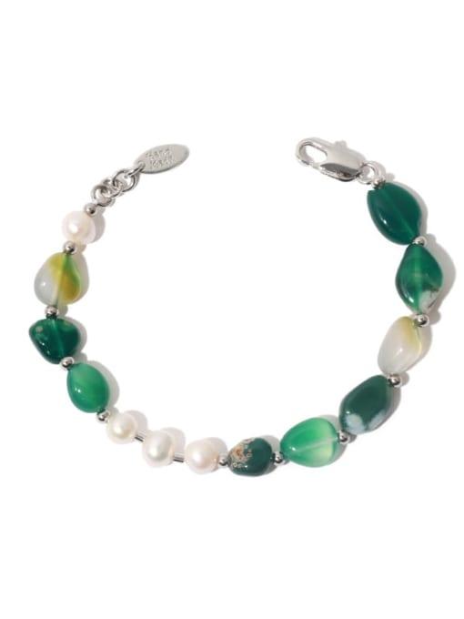 TINGS Brass Freshwater Pearl Irregular Vintage Beaded Bracelet 0