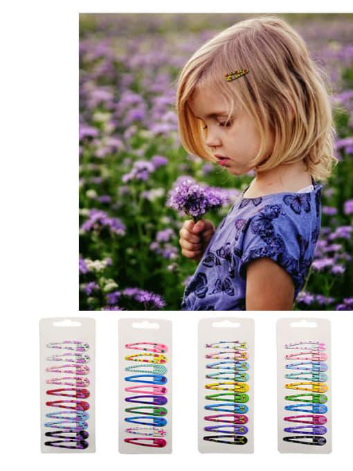DINGHM Alloy Multi Color Enamel Cute Water Drop  Hair Barrette 4