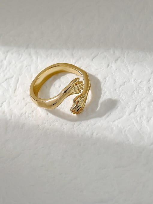 HYACINTH Brass Irregular Vintage Band Fashion Ring