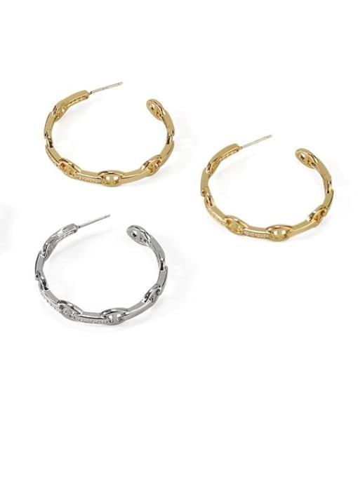 ACCA Brass Geometric Vintage Hoop Earring 2