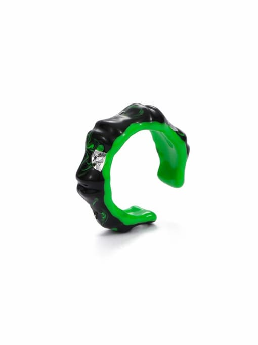 steel foil Zinc Alloy Enamel Geometric Minimalist Band Ring