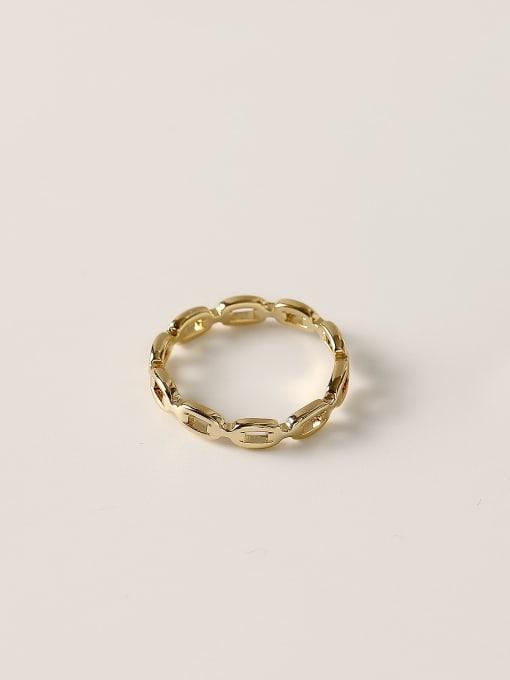 HYACINTH Brass Geometric Minimalist Band Ring