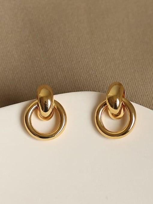 ACCA Brass Hollow Geometric Vintage Drop Earring 2
