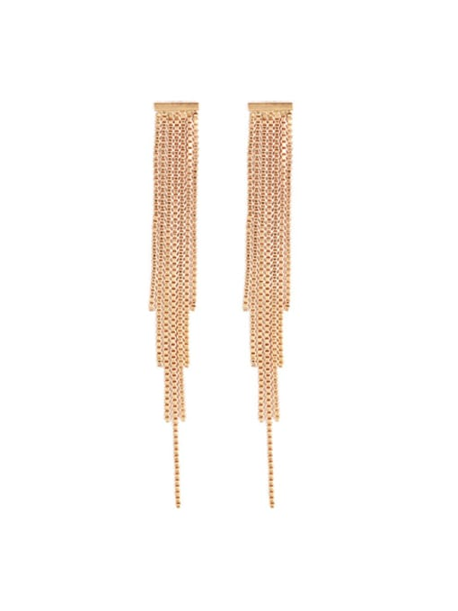 Five Color Brass Tassel Vintage Drop Earring 3