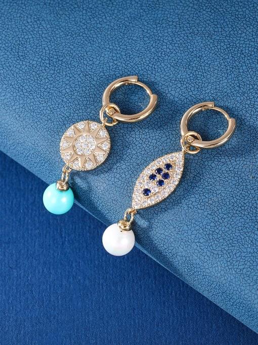 OUOU Brass Cubic Zirconia Friut Vintage Huggie Earring 3