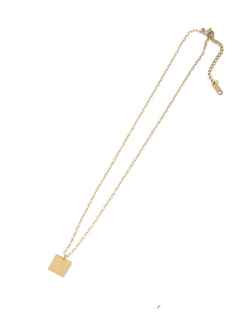 Fangpai Necklace Brass Imitation Pearl Geometric Vintage Necklace