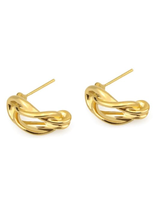ACCA Brass Hollow  Irregular Vintage Stud Earring