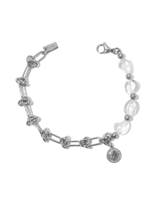 TINGS Brass  Hollow knot Hip Hop Link Bracelet