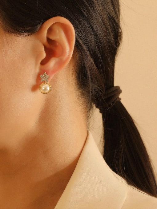 HYACINTH Brass Cubic Zirconia Star Bohemia Stud Earring 1