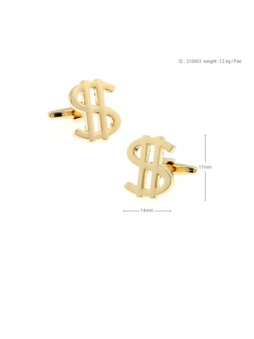 golden Brass Letter Vintage Cuff Link
