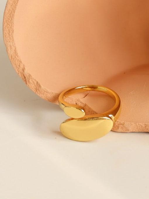 Five Color Brass Geometric Minimalist Band Ring 2