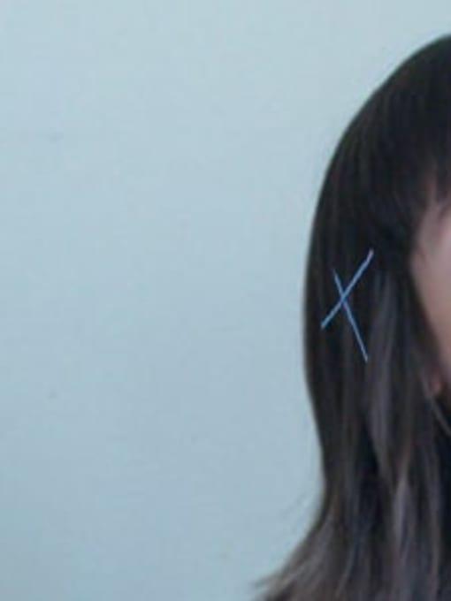 DINGHM Alloy Multi Color Enamel Cute Geometric  Hair Pin 2