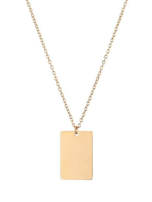 Desoto Stainless steel Geometric Minimalist  Trpe Lettering  Necklace 4