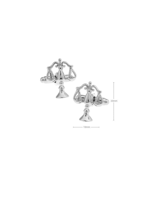 platinum Brass Irregular Trend Libra Cuff Link