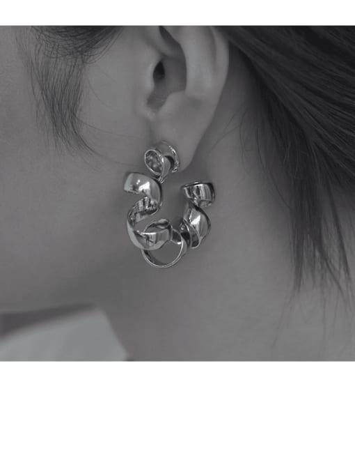 TINGS Brass Geometric Vintage Single Earring 1