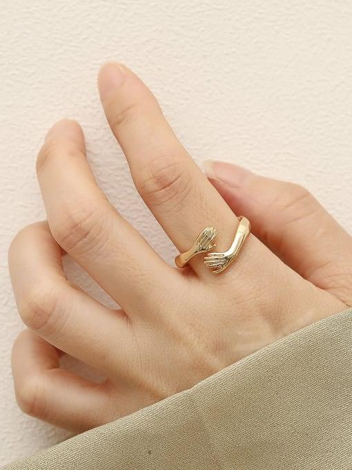 HYACINTH Brass Irregular Vintage Band Fashion Ring 1
