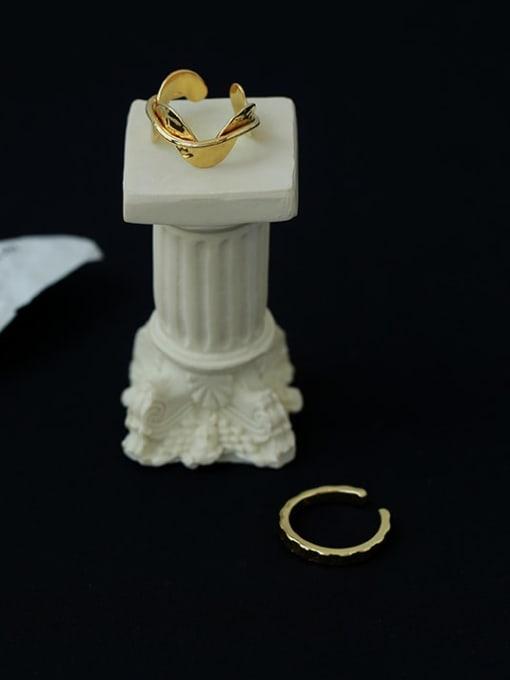 Five Color Brass Irregular Minimalist Band Ring 0