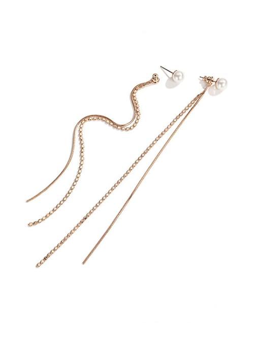 Desoto Stainless steel Tassel Minimalist Threader Earring 0
