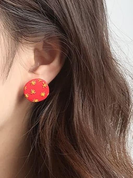Five Color Alloy Enamel  Cute  Cartoon yellow star geometric wings Stud Earring 1