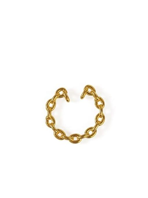 gold Brass Hollow Geometric Vintage Hoop Earring