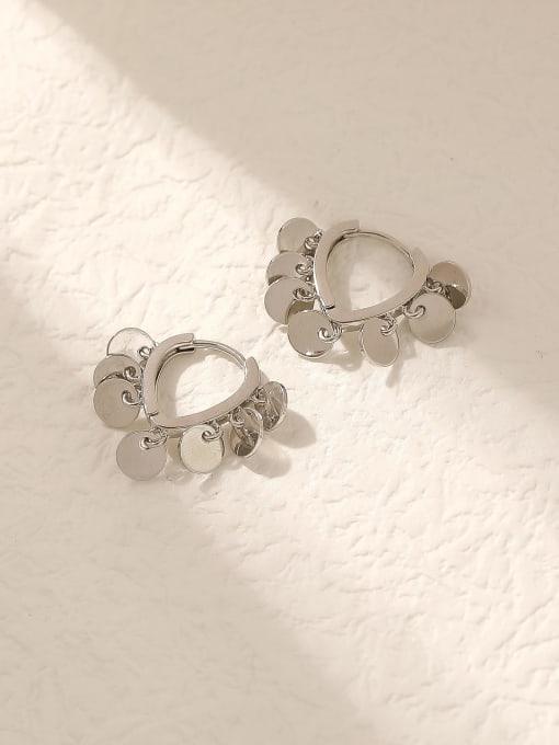 HYACINTH Brass Hollow Heart Vintage Huggie Trend Korean Fashion Earring 2