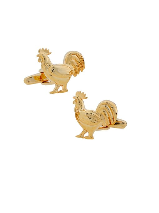 ThreeLink Brass Animal Vintage Cuff Link 1