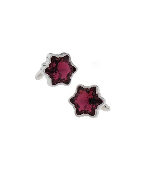 ThreeLink Brass Crystal Star Minimalist Cuff Link 0