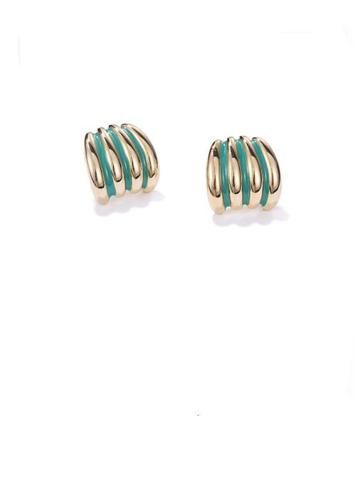 ACCA Brass Enamel Geometric Minimalist Stud Earring 3