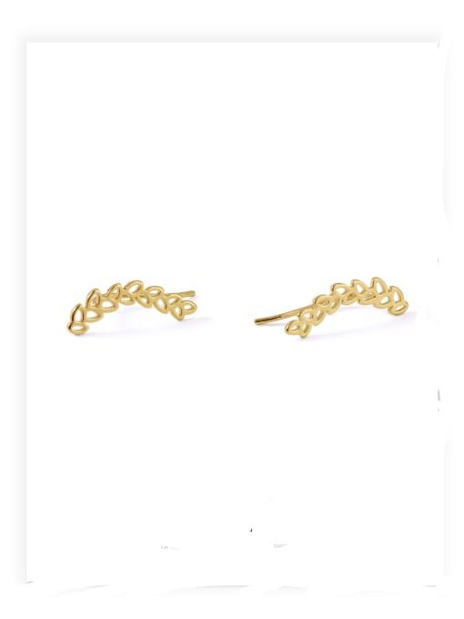 ACCA Brass Ball Hip Hop Stud Earring 2