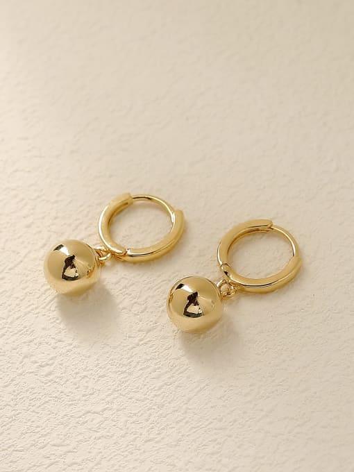 HYACINTH Brass Round Minimalist Huggie Earring 0
