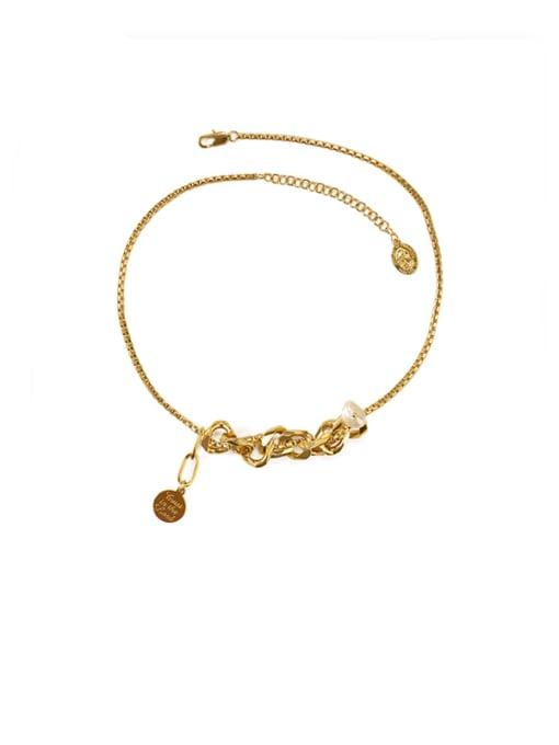 golden Brass Freshwater Pearl Locket Vintage Necklace