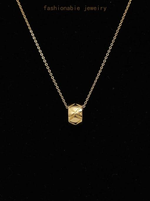 HYACINTH Brass smooth Geometric Minimalist Necklace 0